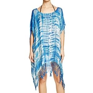 Gypsy05 Sand Tie Dye Easy Poncho Swim Cover Up